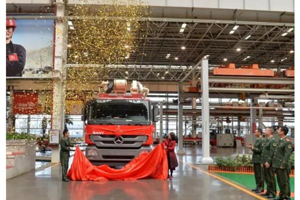 湖南首台三一消防车交付 为长沙县消防安全添力量