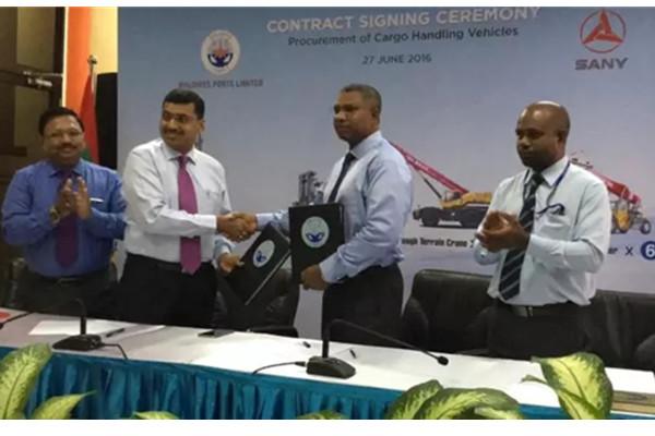 三一印度获得马尔代夫千万美元订单