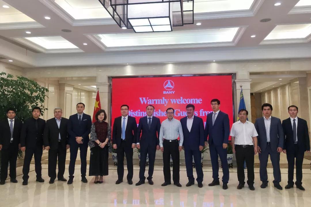 哈萨克斯坦考察团到访三一,期待国际产能合作新机遇