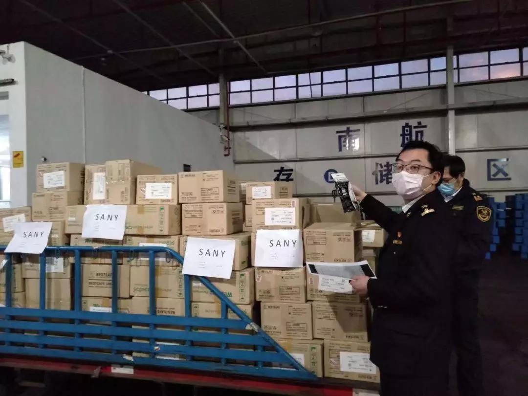 首批55000只口罩到了!落地即捐!三一调动全球资源抗击疫情
