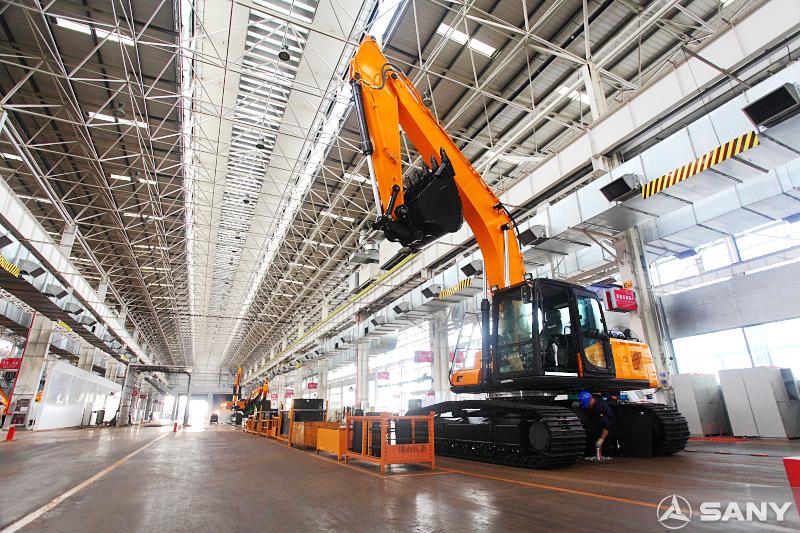 三一挖掘机生产厂房
