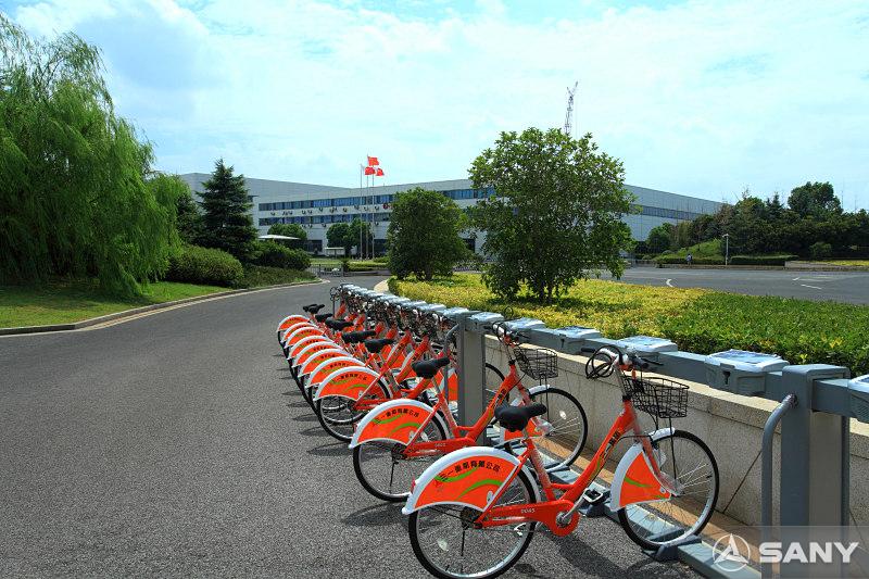 三一重机昆山产业园公用自行车