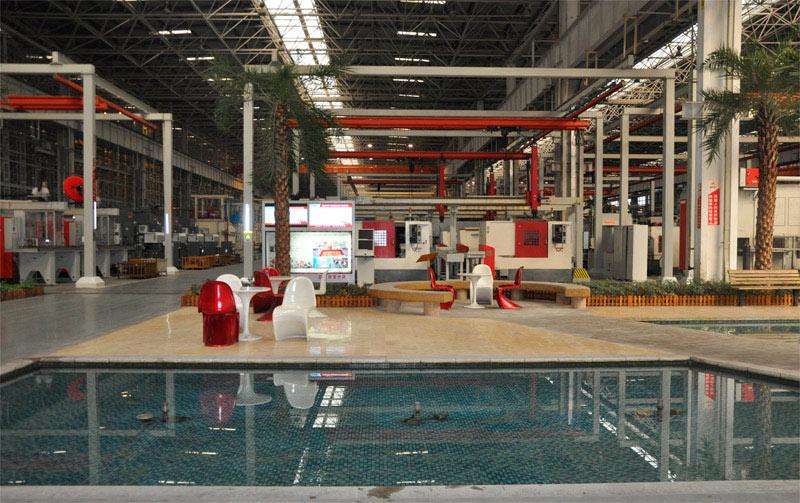 长沙三一工业城18号产房休息区