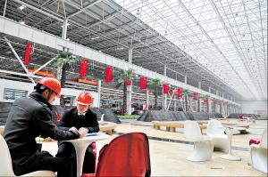 长沙三一工业城厂房休息场所