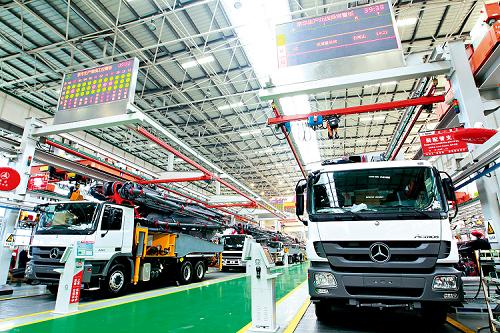 长沙三一工业城设备生产线