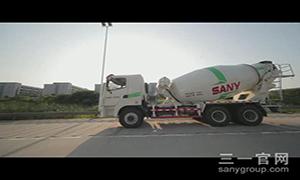 三一LNG搅拌车路面测试