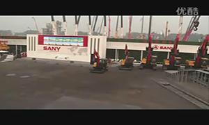 北京工程机械展三一挖掘机精彩表演