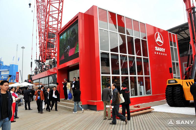 三一展台大受欢迎,2008上海宝马展