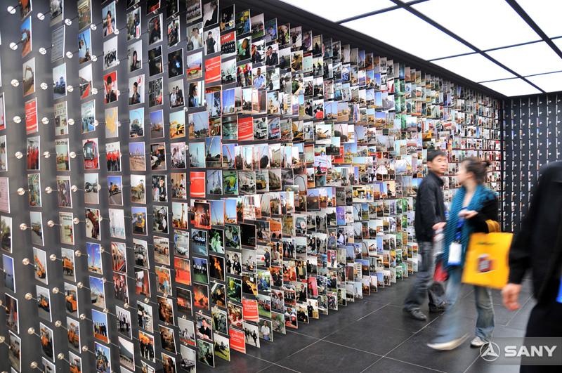 2008上海宝马展,三一照片墙