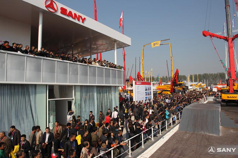 北京国际工程机械展,三一展区大受欢迎