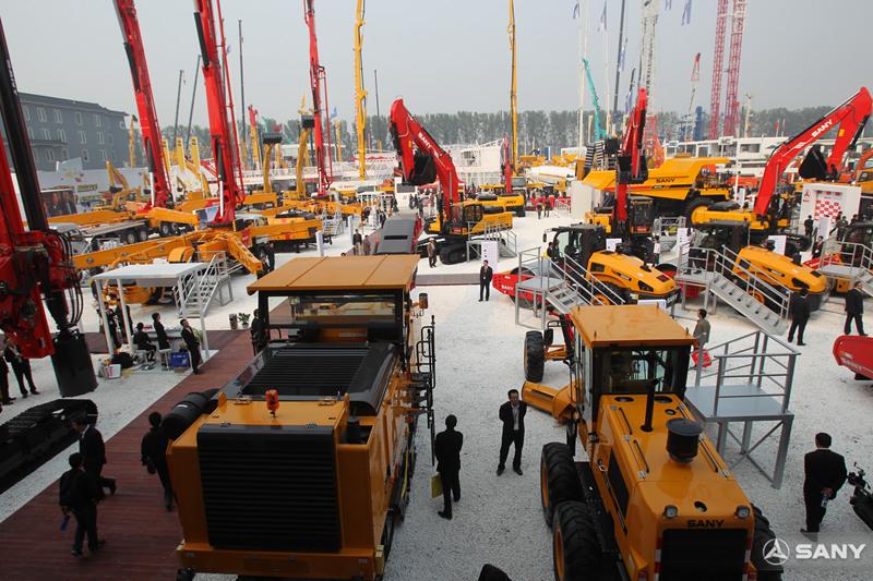 北京国际工程机械展,三一6300平米的最大展区,