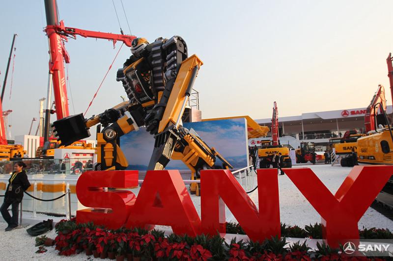 """三一""""变形金刚""""挖掘机,北京国际工程机械展"""
