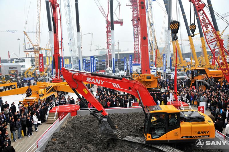 三一挖掘机操作演示,2008上海宝马展