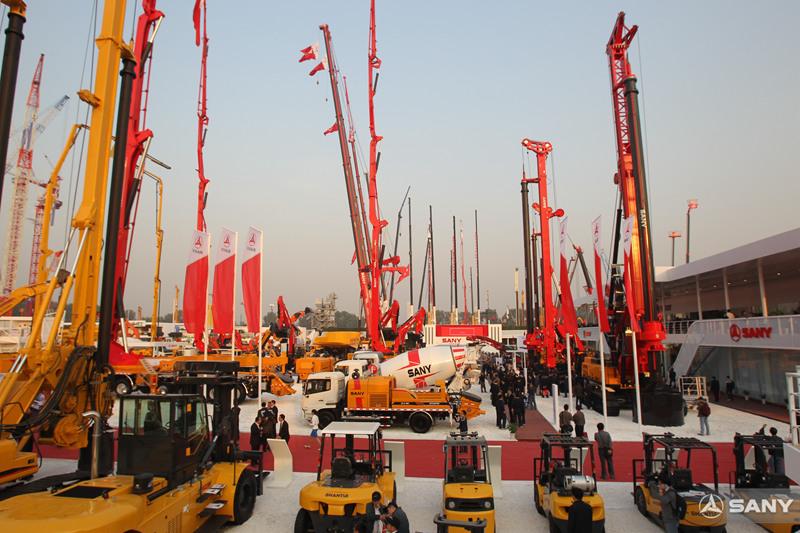 三一携35台全新产品,北京国际工程机械展