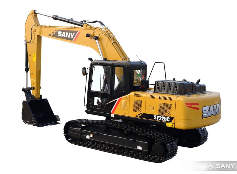 SY225C-10中型反铲挖掘机侧面图