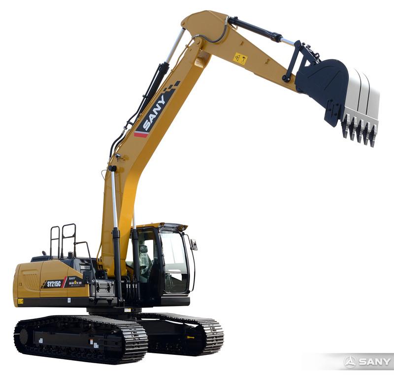 SY215C-10中型反铲挖掘机伸长臂