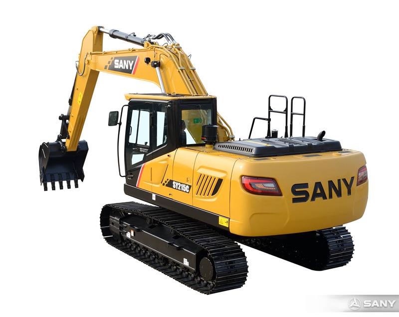 SY215C-10中型反铲挖掘机后视图