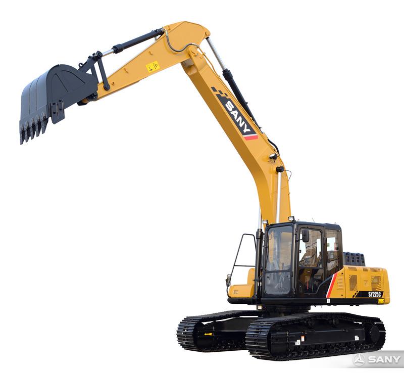 SY225C-10中型反铲挖掘机伸长臂